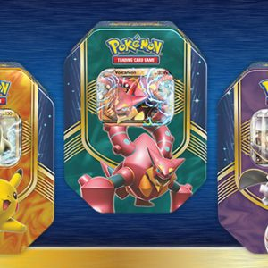 Heroic Pokémon-EX battle with a big heart in the Pokémon TCG: Battle Heart Tin. Choose the explosive energy of Volcanion-EX, the mysterious mechanics of Magearna-EX, or the lightning power of Pikachu-EX! Each of these rugged tins contains a mighty Pokémon-EX with the determination to give it all they've got—so prepare yourself for the battle of a lifetim