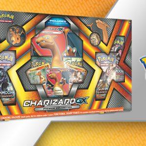 De Charizard-GX Premium Collection Box bevat: 1 Full-art Charizard-GX Foil promokaart 1 Foil promokaart van Charmeleon 1 Foil promokaart van Charmander 1 Charizard Collector's Pin 6 Pokémon TCG Booster Pack (10 kaarten per pack) 1 Oversized foil promokaart van Charizard-GX Coole Pokémon munt van Charizard Bonuskaart om de promokaarten vrij te spelen in de Pokémon Trading Card Game Online