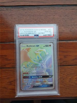 Pokemon PSA 10 Reshiram GX Dragon Majesty 71/70