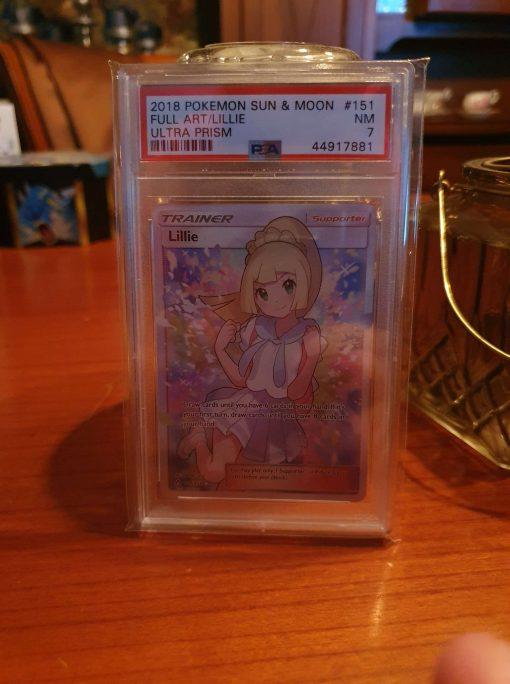 Pokemon PSA 7 Lillie FA Ultra Prism 151/156.
