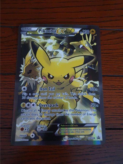 Oversized Pikachu EX XY124 Black Star Promo
