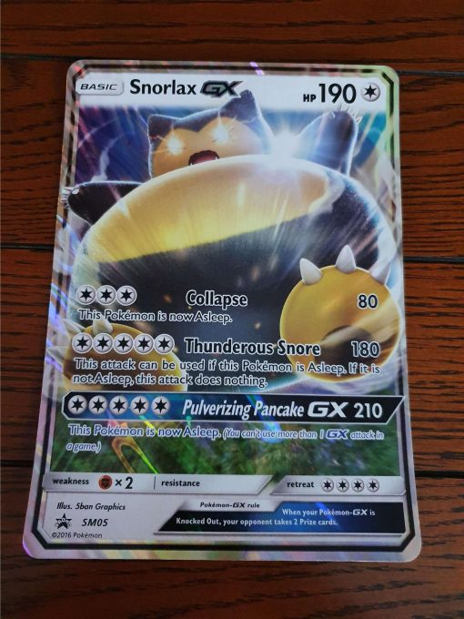 Oversized Snorlax GX SM05 Black Star Promo