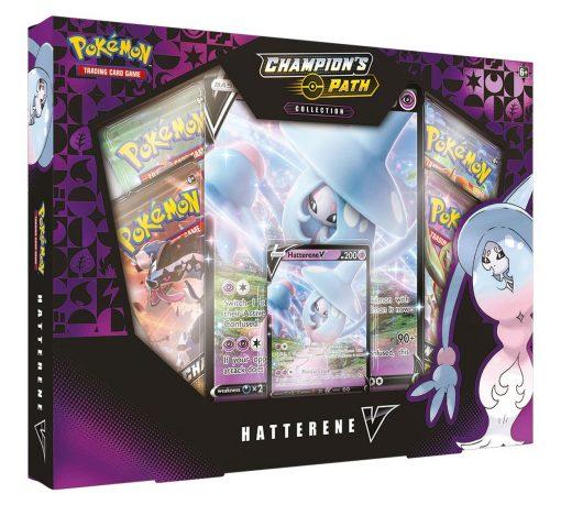 Pokemon Champion's Path Hatterene V Box