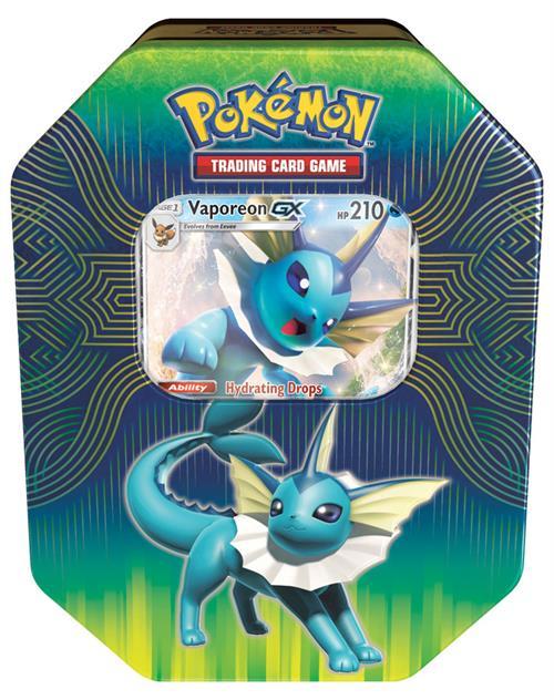 Pokemon Elemental Power Tin Vaporeon GX