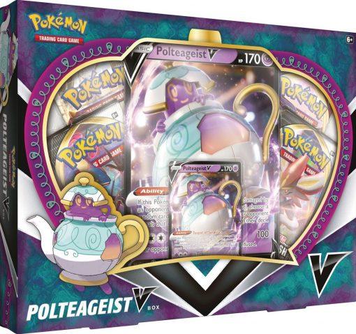 Pokemon Sword and Shield Polteageist V box