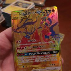 Pokemon Reshiram & Charizard Gold Tag Team All Stars 220/173 Japans