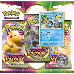 Pokemon Sword & Shield Vivid Voltage Sobble 3 Booster Blister
