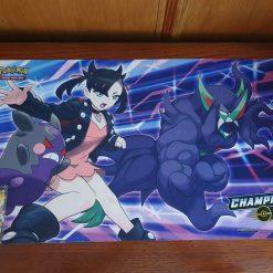 Pokemon Speelmat Champion's Path Marnie met Morpeko en Grimmsnarl