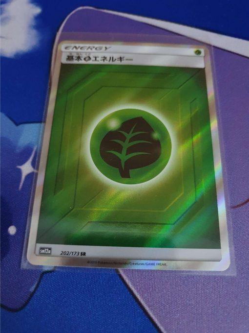 Pokemon Kaart Sun and Moon Tag All Stars sm12a Grass Energy Secret Rare Holo 202/173