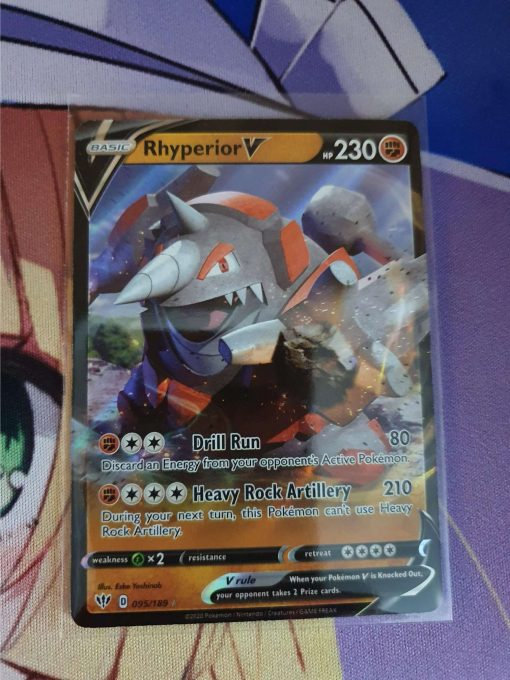 Pokemon Kaart Rhyperior V 095/189 Sword and Shield Darkness Ablaze