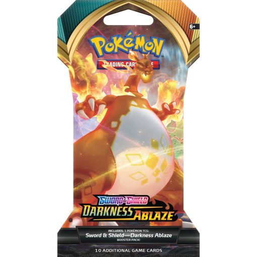 Pokemon Sword and Shield Darkness Ablaze Sleeved Booster