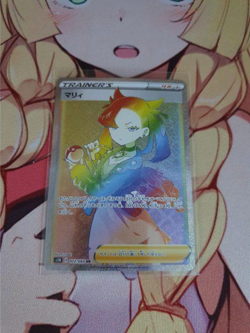 Pokemon Kaart Marnie Rainbow Rare 072/060 Shield Base Set s1H
