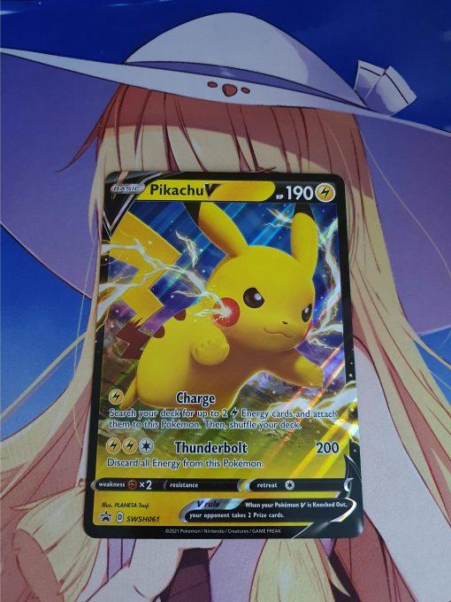 Oversized Pikachu V SWSH061 Black Star Promo