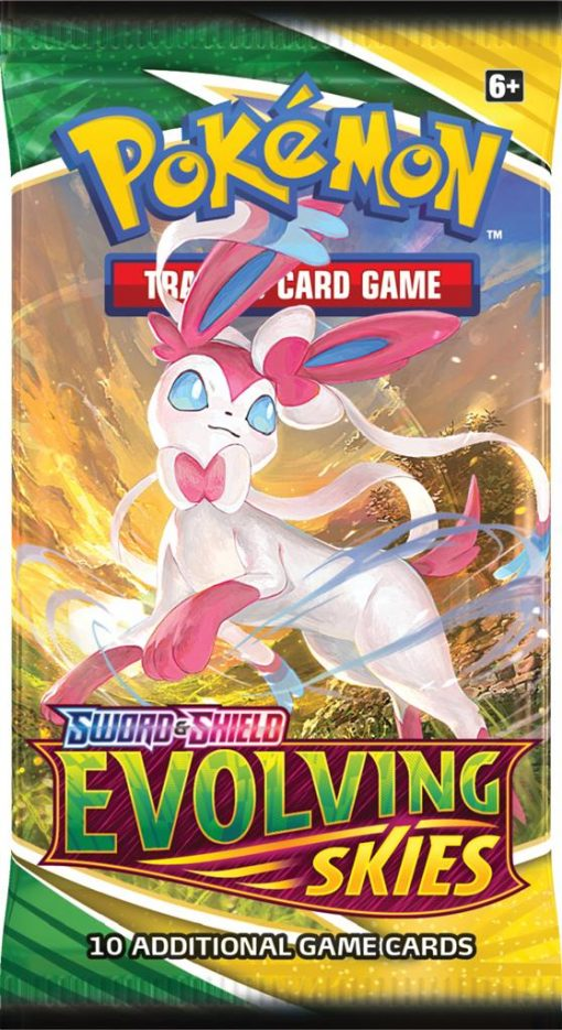 Pokemon Sword and Shield Evolving Skies booster pack 3