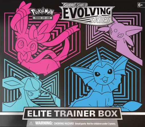 Pokemon Evolving Skies Elite Trainer Box Sylveon, Espeon, Glaceon, Vaporeon 1
