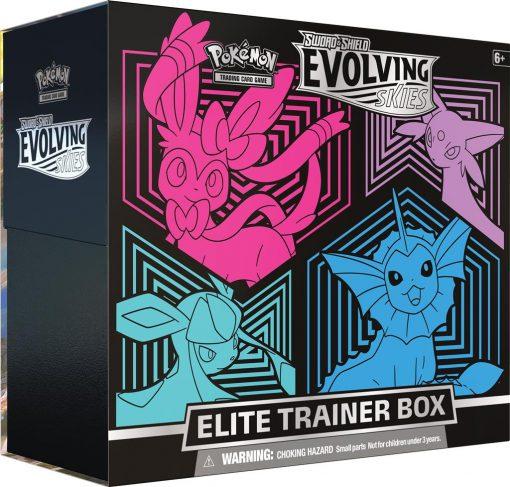 Pokemon Evolving Skies Elite Trainer Box Sylveon, Espeon, Glaceon, Vaporeon