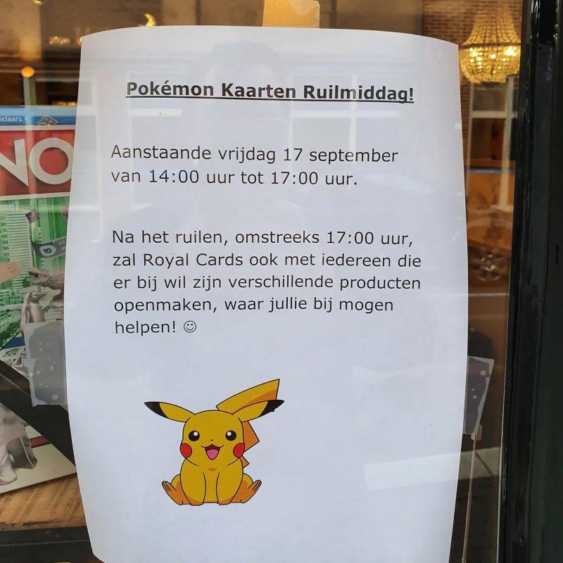 Ruilmiddag Pokémon kaarten